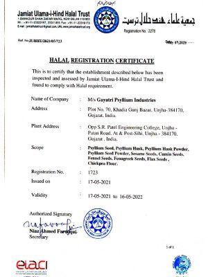 Halal Certificate 2021